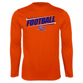 Performance Orange Longsleeve Shirt-Football Design