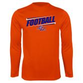 Syntrel Performance Orange Longsleeve Shirt-Football Design