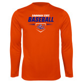 Performance Orange Longsleeve Shirt-Baseball Design