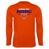 Syntrel Performance Orange Longsleeve Shirt-Baseball Design