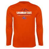 Performance Orange Longsleeve Shirt-Volleyball Design