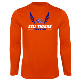 Performance Orange Longsleeve Shirt-Track & Field Design