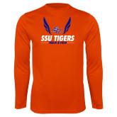 Syntrel Performance Orange Longsleeve Shirt-Track & Field Design
