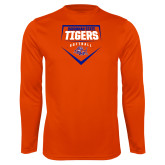 Performance Orange Longsleeve Shirt-Softball Plate Design