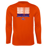Performance Orange Longsleeve Shirt-Golf Design