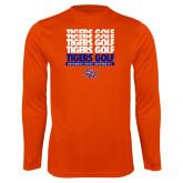 Syntrel Performance Orange Longsleeve Shirt-Golf Design