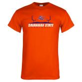 Orange T Shirt-Football Field Design