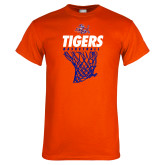 Orange T Shirt-Basketball Net Design