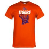 Orange T Shirt-Basketball Net Design