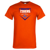 Orange T Shirt-Softball Plate Design