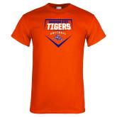 Orange T Shirt-Softball Plate Design