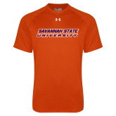 Under Armour Orange Tech Tee-Horizontal Mark