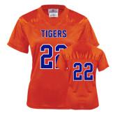 Ladies Orange Replica Football Jersey-#22