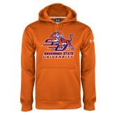 Under Armour Orange Performance Sweats Team Hoodie-Official Logo