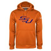 Under Armour Orange Performance Sweats Team Hoodie-SSU