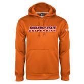 Under Armour Orange Performance Sweats Team Hoodie-Horizontal Mark