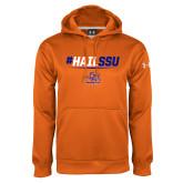 Under Armour Orange Performance Sweats Team Hoodie-#HAILSSU