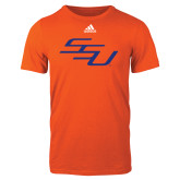 Adidas Orange Logo T Shirt-SSU