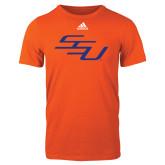 Adidas Orange Logo T Shirt-SSU