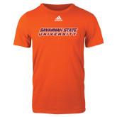 Adidas Orange Logo T Shirt-Horizontal Mark