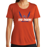 Ladies Syntrel Performance Orange Tee-Track & Field Design