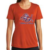 Ladies Syntrel Performance Orange Tee-Track & Field