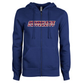 ENZA Ladies Royal Fleece Full Zip Hoodie-Horizontal Mark