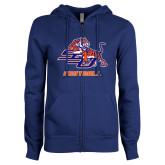 ENZA Ladies Royal Fleece Full Zip Hoodie-Football