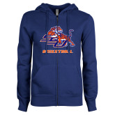 ENZA Ladies Royal Fleece Full Zip Hoodie-Basketball