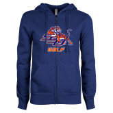 ENZA Ladies Royal Fleece Full Zip Hoodie-Golf