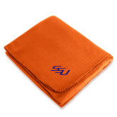 Orange Arctic Fleece Blanket-SSU