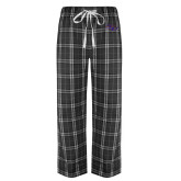 Black/Grey Flannel Pajama Pant-SSU