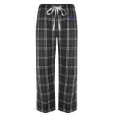 Black/Grey Flannel Pajama Pant-SSU