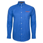Mens Royal Oxford Long Sleeve Shirt-Horizontal Mark