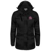 Ladies Black Brushstroke Print Insulated Jacket-Official Logo