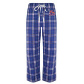 Royal/White Flannel Pajama Pant-Official Logo
