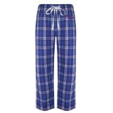 Royal/White Flannel Pajama Pant-SSU