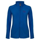 Ladies Fleece Full Zip Royal Jacket-SSU