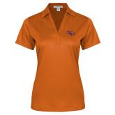 Ladies Orange Performance Fine Jacquard Polo-SSU