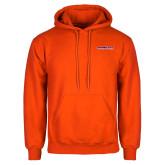 Orange Fleece Hoodie-Horizontal Mark