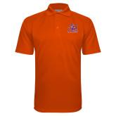Orange Textured Saddle Shoulder Polo-Official Logo