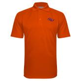 Orange Textured Saddle Shoulder Polo-SSU