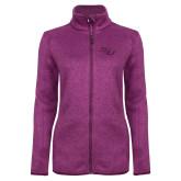 Dark Pink Heather Ladies Fleece Jacket-SSU