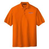 Orange Easycare Pique Polo-Horizontal Mark