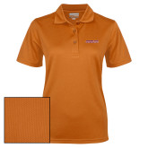 Ladies Orange Dry Mesh Polo-Horizontal Mark
