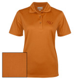Ladies Orange Dry Mesh Polo-SSU