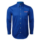 Royal Twill Button Down Long Sleeve-Horizontal Mark
