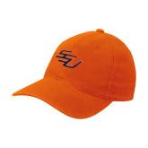 Orange Flexfit Mid Profile Hat-SSU