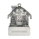 Pewter House Ornament-Wordmark Engraved