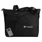 Excel Black Sport Utility Tote-St Benedicts Wordmark